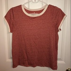 American Eagle Soft Tee Size Medium Red and White